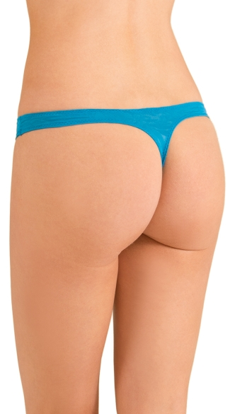 Teal Love Triangle Thong