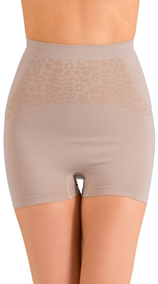 Nude Show Stop High Waist Boyshort, Cheetah Print Shapewear Shorts