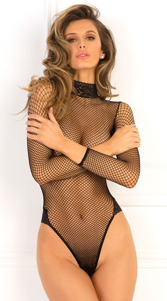 High Demand Bodysuit, Black Fishnet Teddy, Fishnet Bodysuit