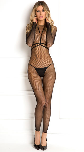 Body Conversation Harness Set, fishnet bodystocking set - Yandy.com