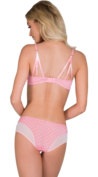 Pink Cutting Corners Bra