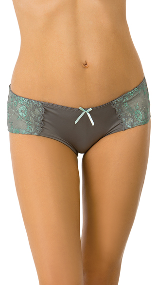 Green Gabriella Boyshort, Lace Panties, Sexy Boyshort Panties
