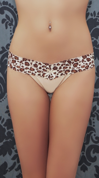Top Rated Nude Cheetah Thong, Nude Cheetah Print Thong
