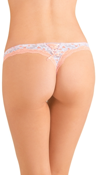 White Knockout Lace Thong