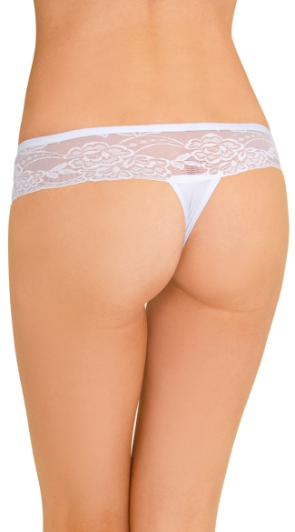 Lace Band Change Up Thong