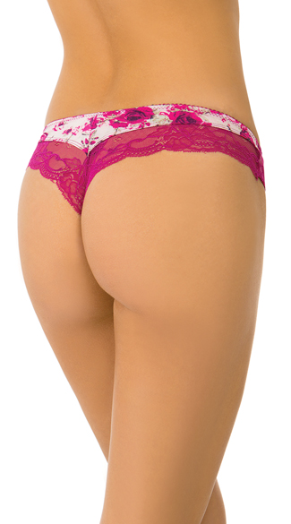 A New Fantasy Floral Pink Thong