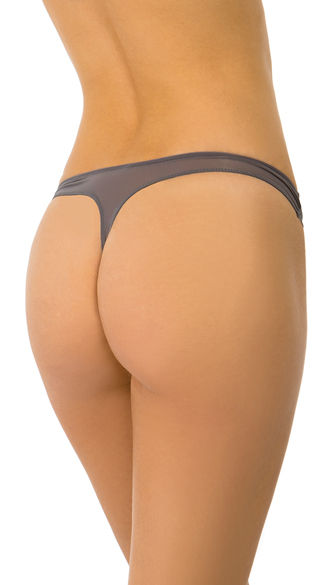 Grey Inside Look Thong