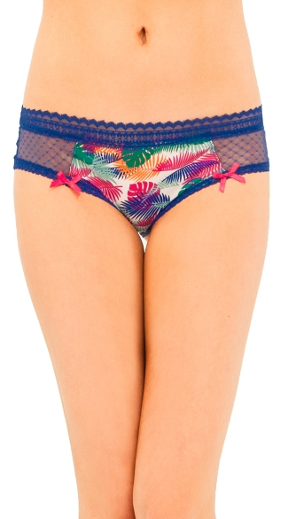 Tropical Print Sheer Panty