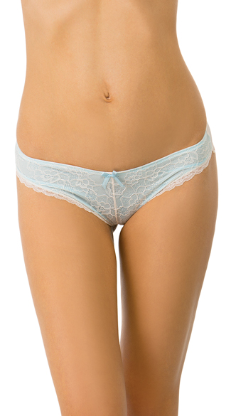 Blue Lace Inside Look Bikini Panty