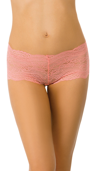 Pink Lace Up All Night Boyshort