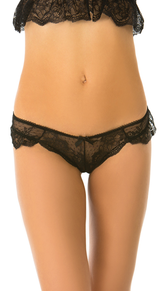 Everyday I\'m Frilling Black Thong, Black Lace Thong, Black Thong
