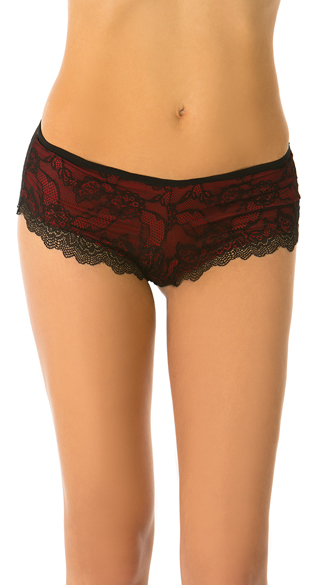 Crazy Sexy Love Red Boyshort Panty