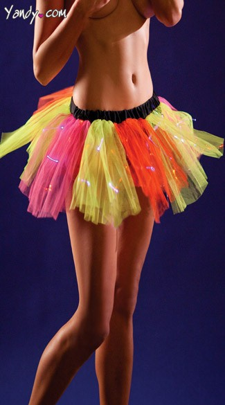 Chasing Rainbows Light Up Petticoat, Light Up Rainbow Petticoat Skirt