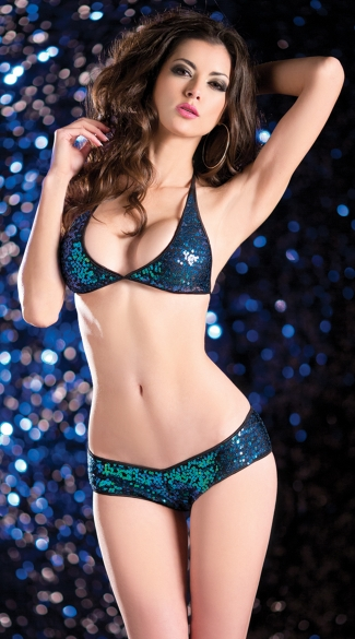 Sequin Scrunch Back Panty