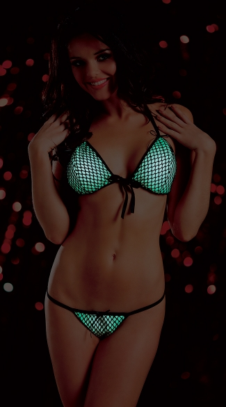 Glow in the Dark Bra Set