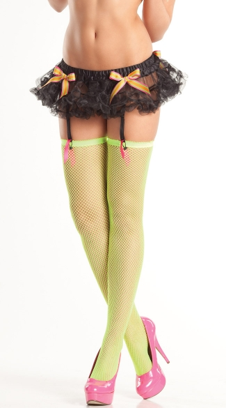 Black Mini Petticoat with Garters, Neon Black Clothing,  Black Light Club Wear