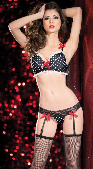 Pin Up Doll Bra and Thong Set