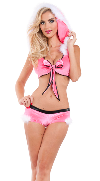Santa\'s Little Helper Set, Sexy Christmas Lingerie, Sexy Christmas Bikini Set
