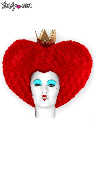 Red Queen Wig, Alice In Wonderland Wig, Queen of Hearts Wig