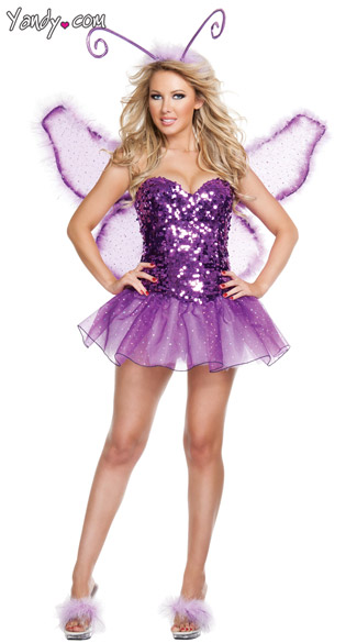 Signature Butterfly Halloween Costume, Purple Butterfly Costume, Deluxe Butterfly Costume, Sequin Butterfly