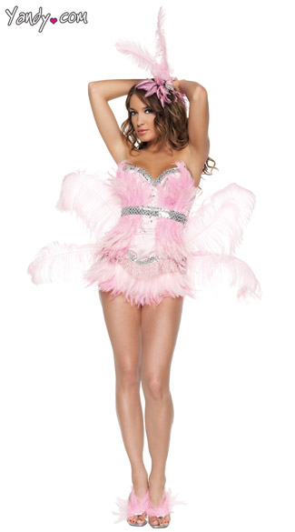 Sexy Deluxe Flamingo Costume, Sexy Flamingo, Adult Flamingo Costume