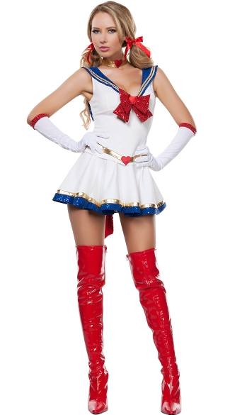 Anime Sailor Heroine, Female Superhero Costumes, Costumes For Adults