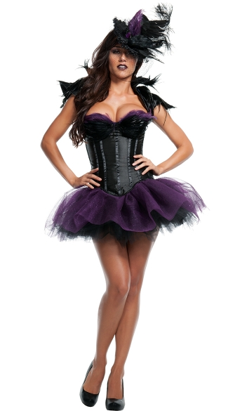 Ravishing Raven Costume, Black Bird Costume, Sexy Crow Costume