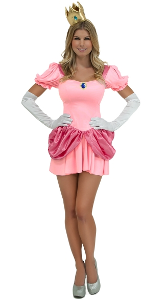 Pretty Pink Princess Costume, Princess Gamer Costume, Video Game Princess Costume