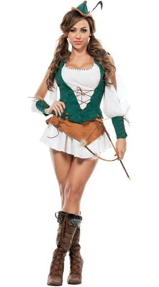 Sherwood Beauty Robin Costume, Female Robin Hood Costume
