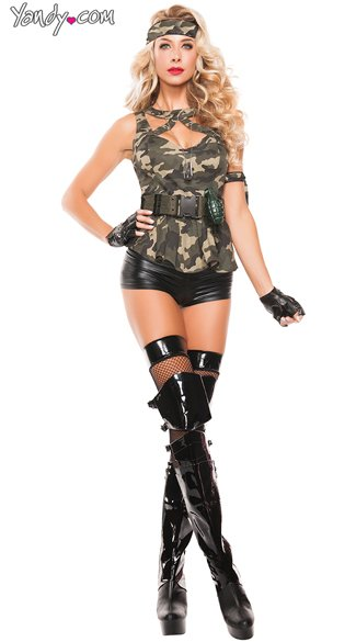 Sexy Special Forces Costume, Sexy Military Costume, Sexy Army Costume