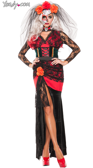 Day Of The Dead Diva Costume