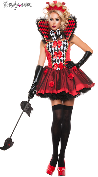 Queen Of Roses Costume, Queen of Hearts Costume, The Red Queen Costume
