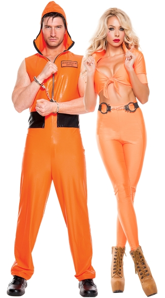 Escaped Convict Couples Costume, Stiff Sentence Prisoner Costume, Sexy Inmate Costume, Women Prisoner Costume, Men\'s Escaped Convict Costume, Men\'s Prisoner Costume
