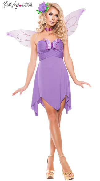 Lilac Fairy costume, Light Purple Gorgeous Fairy costume, Sexy Lilac Embellished Fairy costume