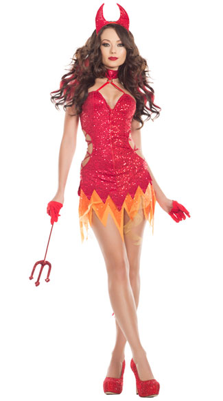 Flaming Diva Costume, Hottie Devil Costume - Yandy.com