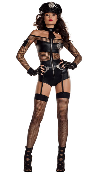 Midnight Shift Officer Costume, Might Sexy Officer Costume - Yandy.com