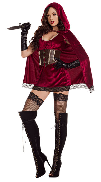 Dark Red Riding Hood Costume, Radiant Red Costume - Yandy.com