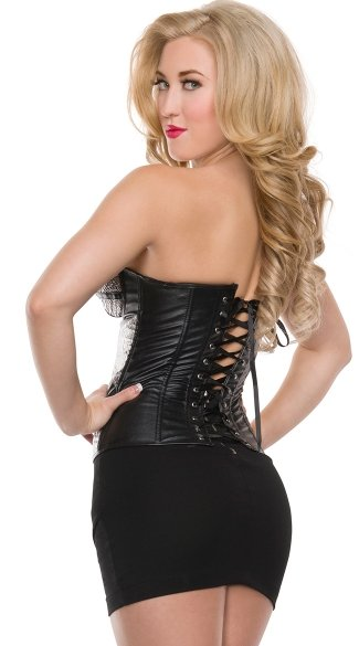 Flashy Metallic Zipper Corset