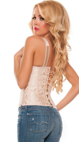 Plus Size Champagne Lace-Up Corset