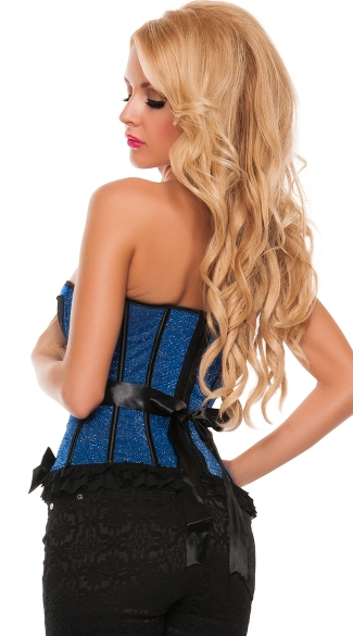 Primped and Pretty Satin Trimmed Bustier Corset