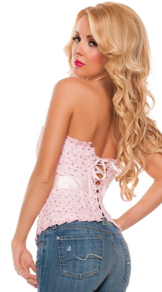 Spring Has Sprung Pink Floral Corset