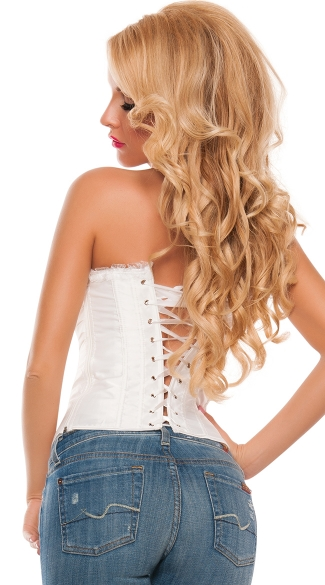 Plus Size Girls Night Chiffon Cup Corset