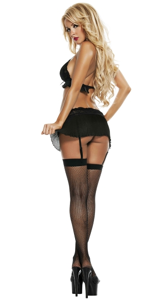 After Dark Bra Top with Skirt and Garters