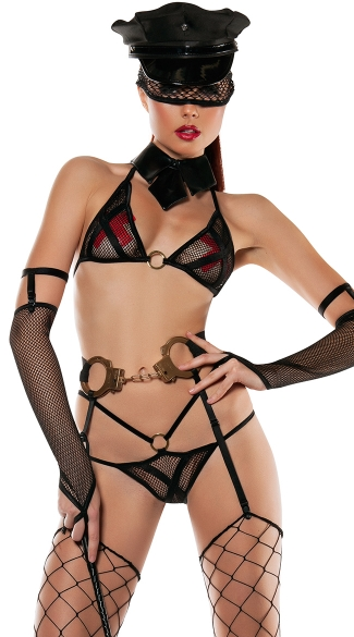 Roleplay Cop Lingerie Costume, Sexy Cop Costume, Cop Lingerie