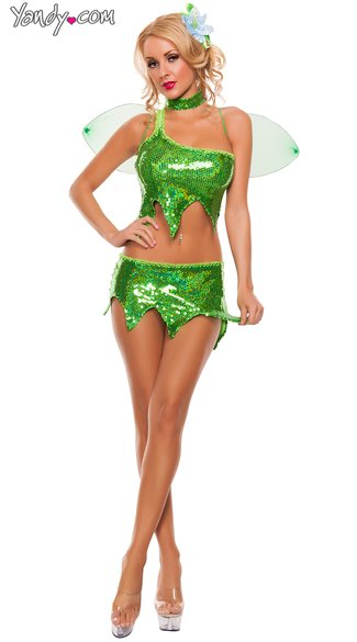 costume halloween sexy tinkerbell