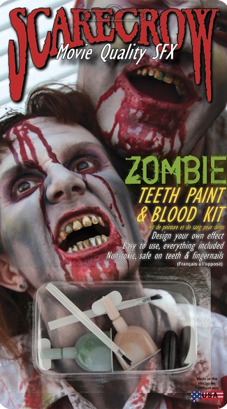 Zombie Teeth Paint and Blood Kit