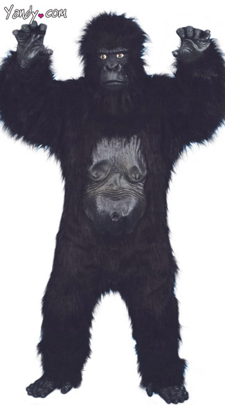 Deluxe Gorilla Costume, Mens Gorilla Costume, Male Monkey Costume