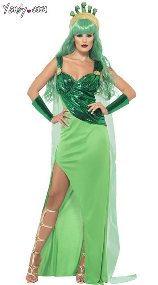 Mystical Medusa Costume, Green Medusa Costume