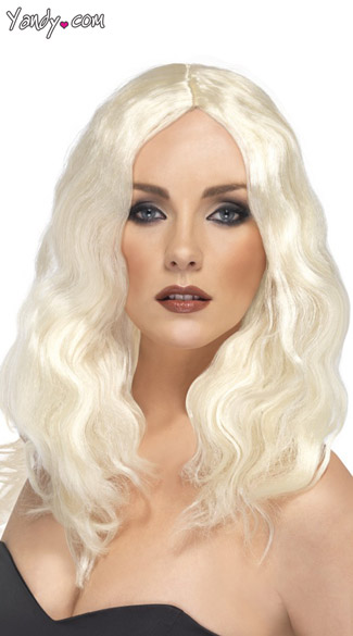 Platinum Superstar Wig, Womens Platinum Wig