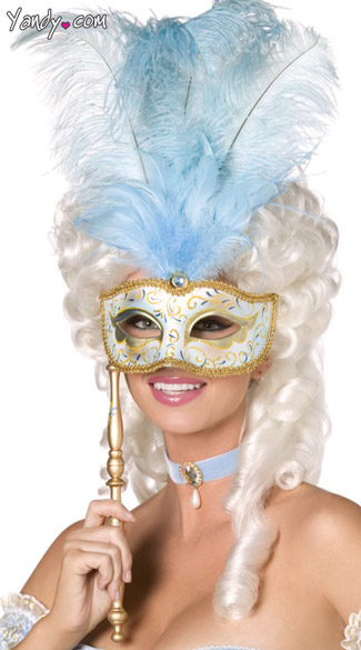 Blue Baroque Fantasy Mask